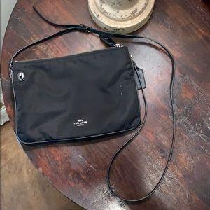 Coach double zip crossbody/shoulder bag